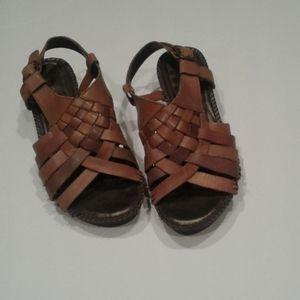 Woven Pattern Sandals Tan St. John's Bay